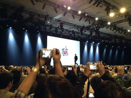 Tim Cook Leaving Stage