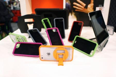 Colorful iPhone cases with a built-in stand.