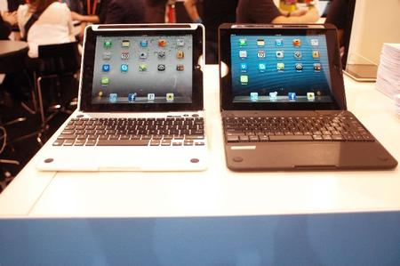 The CruxSkunk on the left, Crux 360 on the Right - turn your iPad into a laptop.