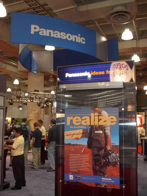 Panasonic - an Apple videoi partner - was another DV Expo exhibitor