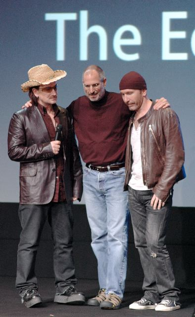 Bono, Steve Jobs, & The Edge