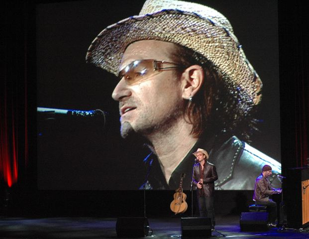 Bono, Bono writ large, & The Edge