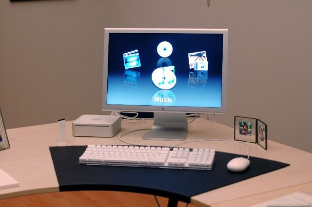 The Mac mini in Apple's home office set up.
