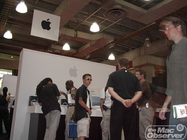 The Apple booth was a popular place on the DV Expo show floor