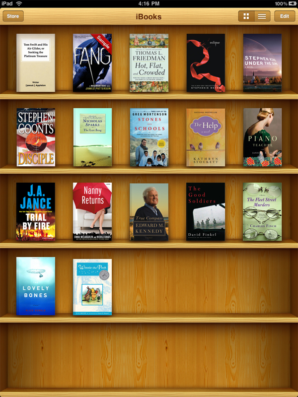 iBook app library