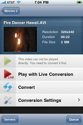 Air Video Live Conversion