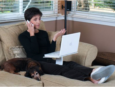 The Following Image Also From Caazorii Website Shows A Woman Using Lap Desk On Soft Surface