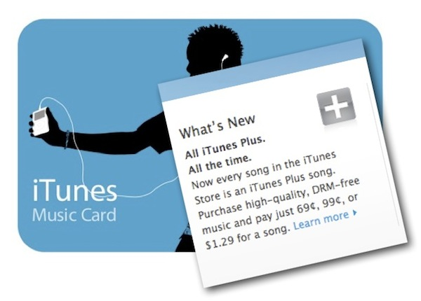 iTunes Gift Card Verbiage