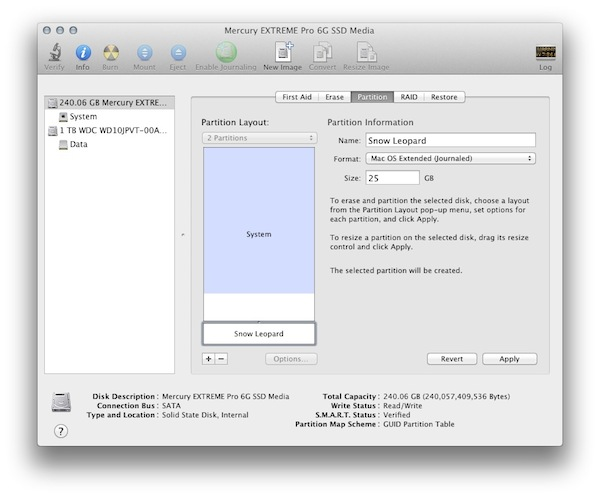 Disk Utility Partitioning