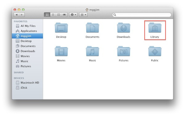 Lion Library Folder Restored