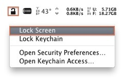 Screen Lock Menu Bar