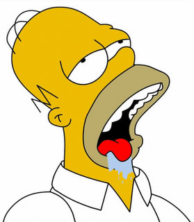 Homer Simpsons Drooling