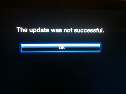Apple TV Update Error