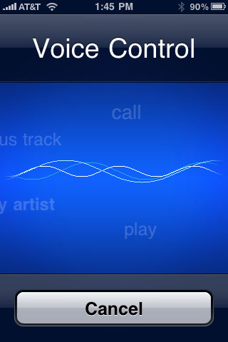 Voice Control Main Screen