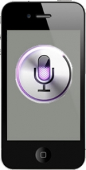 iPhone displaying Siri icon