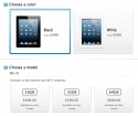 Apple Store screenshot showing iPad shipping delays