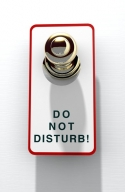 Do Not Disturb door hangar.