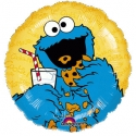 Cookie Monster cartoon character.