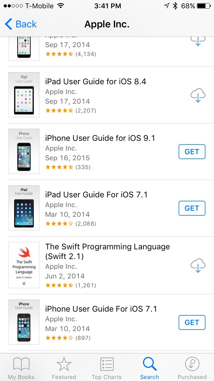 Apple's iBooks on the iPhone