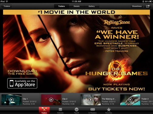 iTunes Trailers Hunger Games