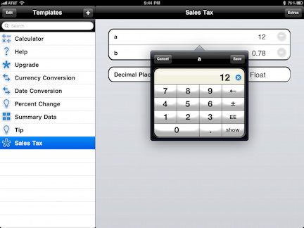 powerOne Calculator Screenshot