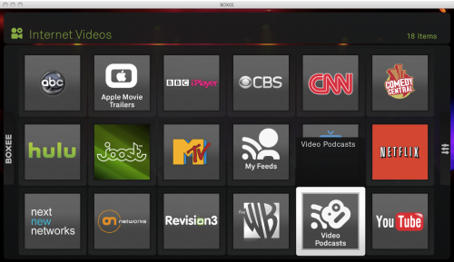 boxee screen shot