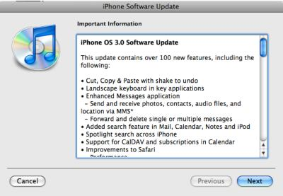 iTunes, OS 3 features, 1