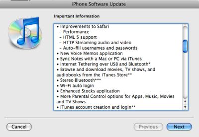 iTunes, OS 3 features, 2