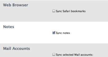 Notes sync