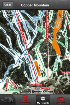 NF Snow Trail Map