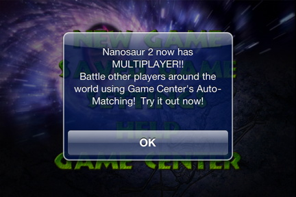 Game Center First Use Alert