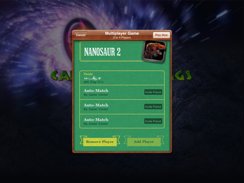 Nanosaur2 Game Center Screen