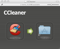 Installation of CCLeaner for Mac is the typical fare