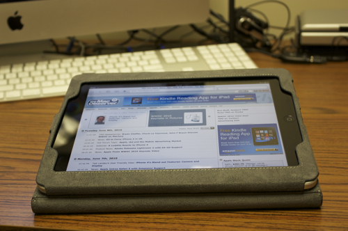 Marware Eco-Vue for iPad using built-in stand