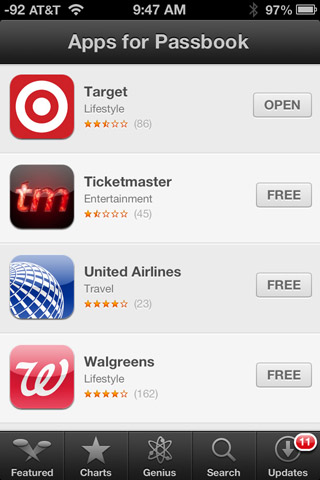 Apps for Passbook