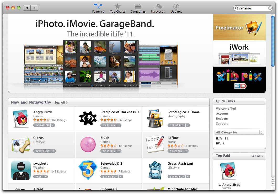 Mac App Store splash