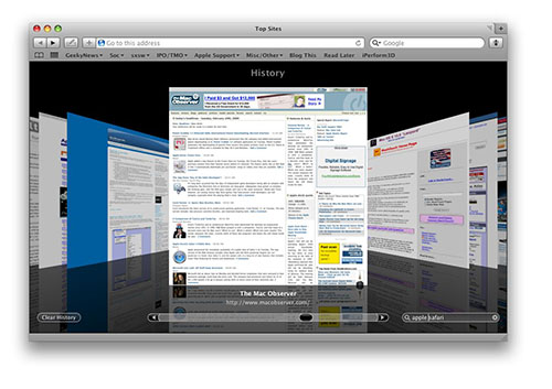 Safari 4 Search History
