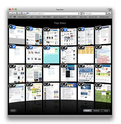 Safari 4 Top Sites Edit mode