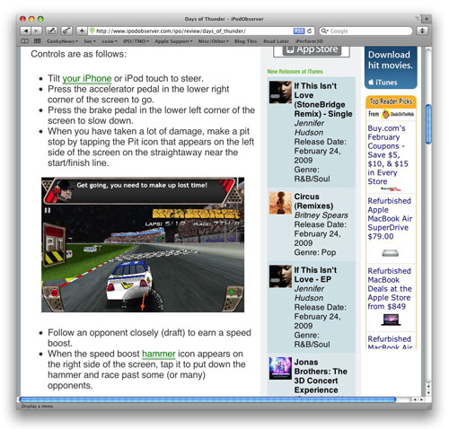 Safari 4 Text-only zoom