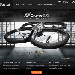 The Parrot AR Drone is a high-tech, ultra lightweight, remote-controlled quadricopter (helicopter with four rotors).