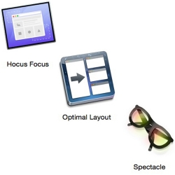 Manage windows with Hocus Focus, Optimal Layout, and Spectacle