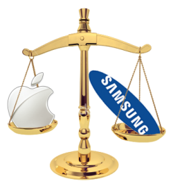 Apple vs. Samsung legal scales
