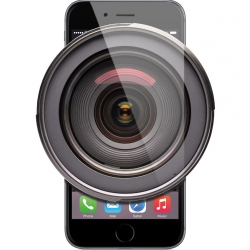 iPhone with large camera lens