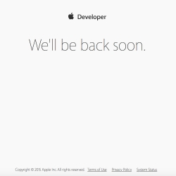 Apple's developer site goes down ahead of WWDC 2015 keynote