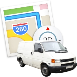 Apple Maps and a van
