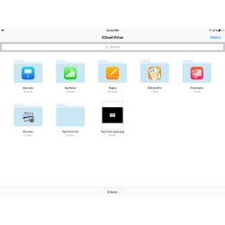 You can view your iCloud Drive in iOS 9