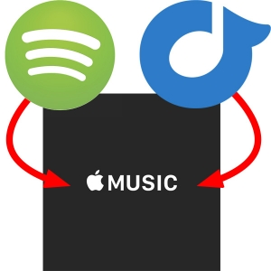 Apple Music Spotify Rdio Logos