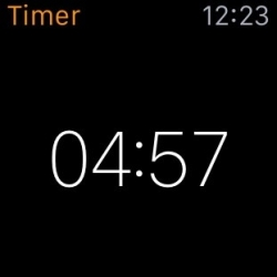 Apple Watch, Siri & countdown timer