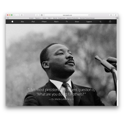 Apple's MLK Day homepage
