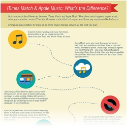 Apple Music and iTunes Match infographic